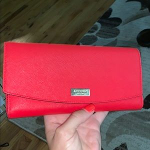 Kate Spade wallet, minor stain on back (pictured)